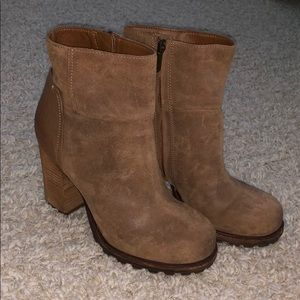 Sam Edelman never worn high heel boots with treads